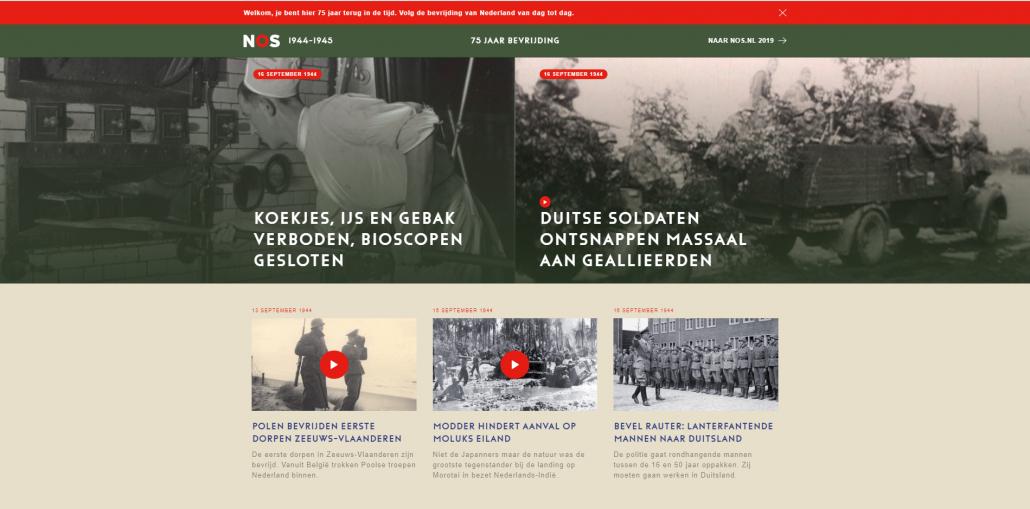 NOS-website volgt bevrijding van dag tot dag